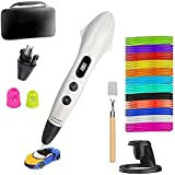 Bolígrafo 3D + filamento PLA de 12 Colores - Juego de Bolígrafo de Impresión 3D de última Versión, Bolígrafo 3D Como Regalo para niños/Adultos, Aficionados a Los Garabatos, Manualidades
