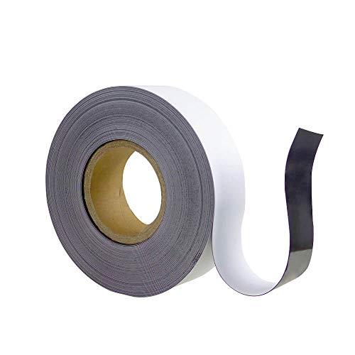 TMS PRO SHOP Magnetband, weiß, zuschneidbar, beschriftbar, Breite 50 mm, 30 m/Rolle aus Magnet-Folie