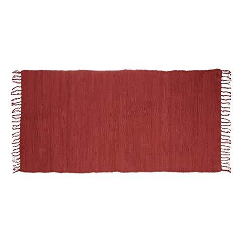 Relaxdays 10020461_583 - Alfombra de Pasillo (algodón, 70 x 140 x 1 cm), Color Rojo