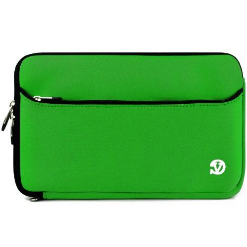 Funda Protectora de Neopreno para tabletas, iPad, Galaxy, Transformer Book/Pad, Yoga, y Otros Verde y Negro 10-10.6'
