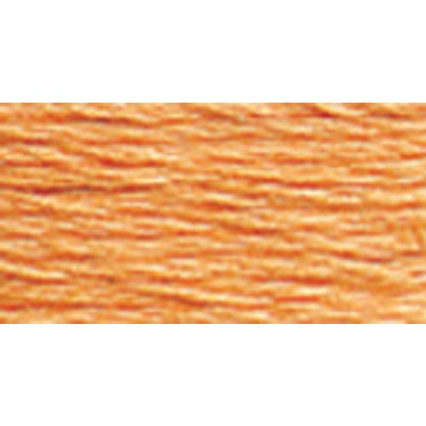 DMC 117-3825 Mouline Stranded Cotton Six Strand Embroidery Floss Thread, Pale Pumpkin, 8.7-Yard