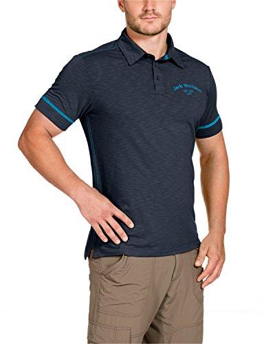 Jack Wolfskin Herren Shirt Travel Polo Men, Night Blue, S