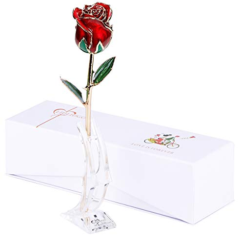 24K Gold Rose Made from Real Fresh Flower