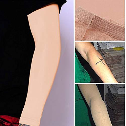 gohigher 1 Paar Tattoo Cover Up Lange Mode Praktische Ärmel Concealer Outdoor UV-Schutz Sport Gym Unisex Arm-Ärmel