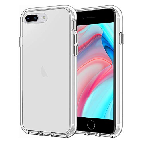 Whew Funda transparente compatible con iPhone 7/8 Plus (6,1 pulgadas), suave, fina, transparente, antiamarillo, carcasa de TPU compatible con iPhone 7/8 Plus, transparente