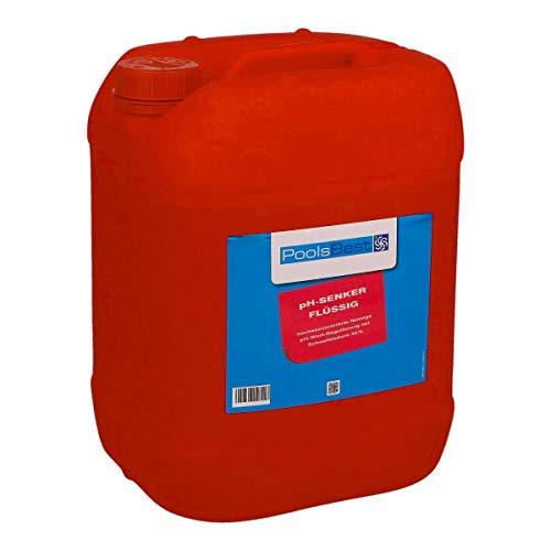 POOLSBEST® 25 kg pH-Senker flüssig für Pools - pH Minus zur optimalen pH-Wert Regulierung