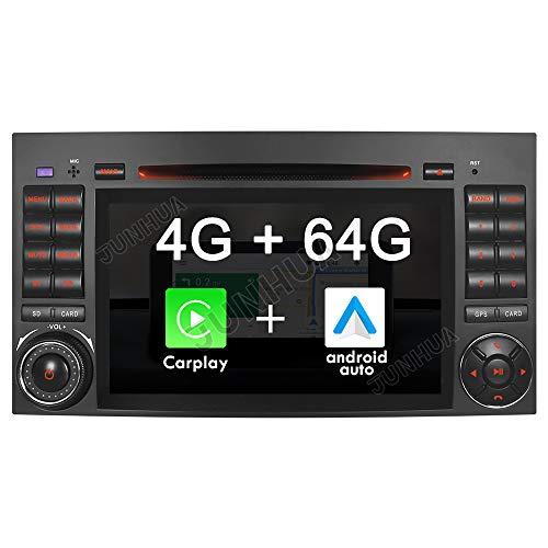 Android 10.0 Octa-Core 4GB RAM+64GB ROM Carplay+Android Auto DSP Autoradio DVD GPS für Mercedes Benz A/B Klasse W169 W245 VITO Viano Sprinter DAB+ OBD2 4G-LTE WiFi