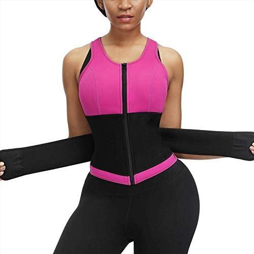 Womens Waist Trainer Hot Sweat Sauna Suit Vest Waist Trimmer Breathable Body Sports Bra Rose product image