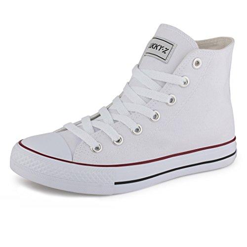 best-boots Damen High-Top Sneaker Schnürer weiß 1187 Größe 42