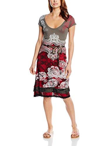 Desigual Paris Vestido, Rojo (Rouge), S para Mujer