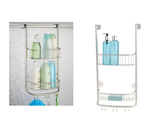 iDesign Forma Bathroom Over the Door Shower Caddy with Storage Baskets Shelves for Shampoo,...