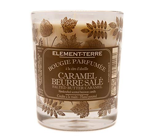 ELEMENT-TERRE Scented Candle 200 g 50 Hours Salted Butter Caramel Fragrance