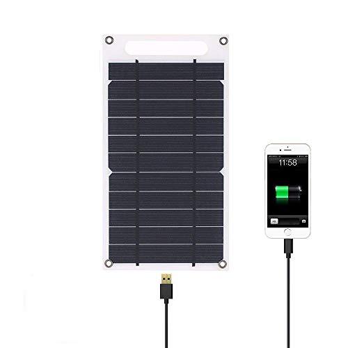 Panel Solar Cargador Puerto USB Portátil Papel de Alta Potencia en Forma de silicio monocristalino, Panel Solar de silicio monocristalino Ultra Delgado para Acampar en teléfonos celulares