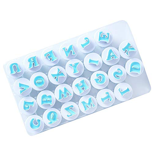 26 moldes de letras del alfabeto, fondant, plunger, cortador