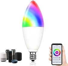 لمبة اضاءة ذكية تعمل بالواي فاي من كمزاي RGB+W+C بتصميم شمعة بقدرة 5 واط وE14 وقابلة لتغيير اللون والخفت وتعمل عن طريق تطب...