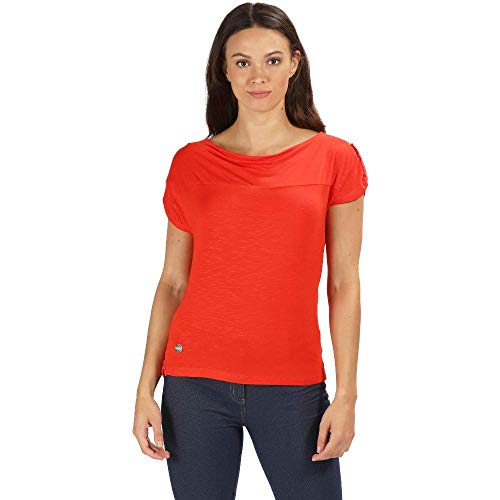 Regatta Freesia T-Shirt Femme Fiery Red FR : L (Taille Fabricant : Taille 16)