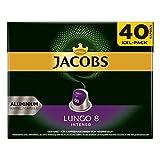 Jacobs Lungo 8 Intenso - Cápsulas de café compatibles con Nespresso, 200 cápsulas, 5,2 g