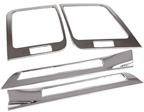 Newkingz クラウン 210系 パーツ ドアエアコン フロントエアコン カバー ガーニッシュ アクセサリー ステンレス 内装 装飾パーツ ドア・フロントエアコンカバー鏡面シルバーセット