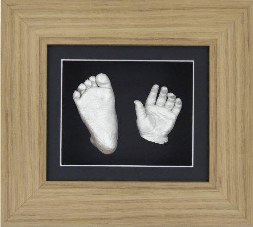 contour Noir Argent Peinture m/étallique Anika-Baby Kit de moulage pour b/éb/é 36,8/x 21,6/cm Rose Cadre id/éal pour les jumeaux.