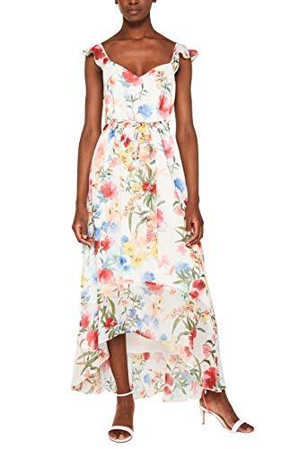 ESPRIT Collection Damen 049EO1E042 Kleid, Weiß (Off White 110), 40