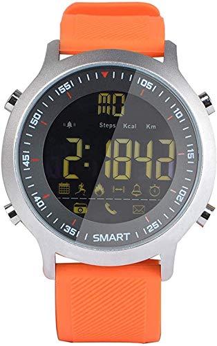 Reloj inteligente Smartwatch Actividad Trackers 1.3 pulgadas Fitness Smart Watch Hombres Reloj Inteligente con Música Impermeable Ip68 Presión Arterial Relojes para Mujer Negro Clásico-Naranja-Naranja