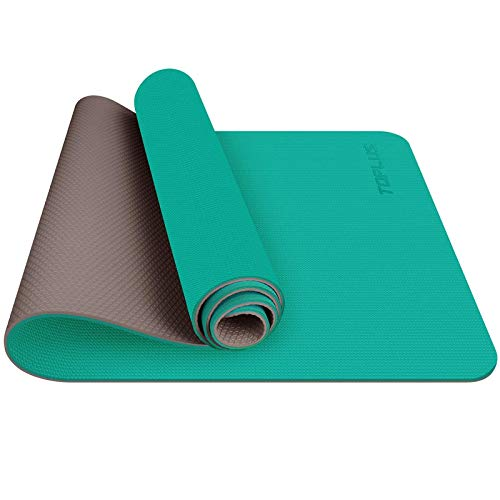 TOPLUS Tappetino da Yoga, Tappetino da Yoga Imbottito e Antiscivolo Fitness Pilates e Ginnastica con Cinturino di TPE,180 x 60 cm