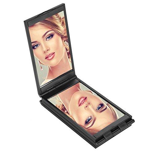 Miroir de maquillage, portable de voyage pliable Miroir cosmétique Outil pliable compact