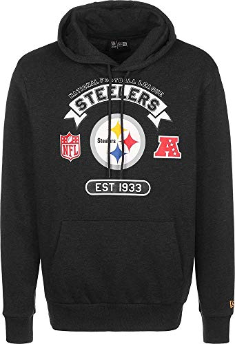 New Era NFL Graphic Po Hoody Pitste Hgp Sudadera, Unisex Adulto, Grey, L