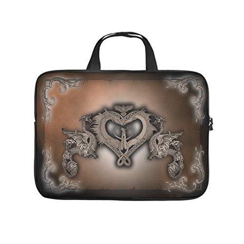 Japanese Viking Dragon Totem Laptop Bag Antistatic Protective Case for Laptops Stylish Notebook Bag for University Work Business