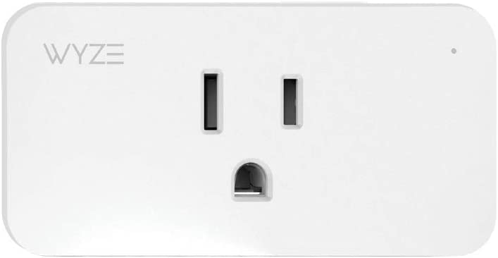 WYZE WLPP1CFH-1 Smart Home Plug, WiFi & Bluetooth Works with Alexa, Google Assistant, IFTTT, One-Pack, White