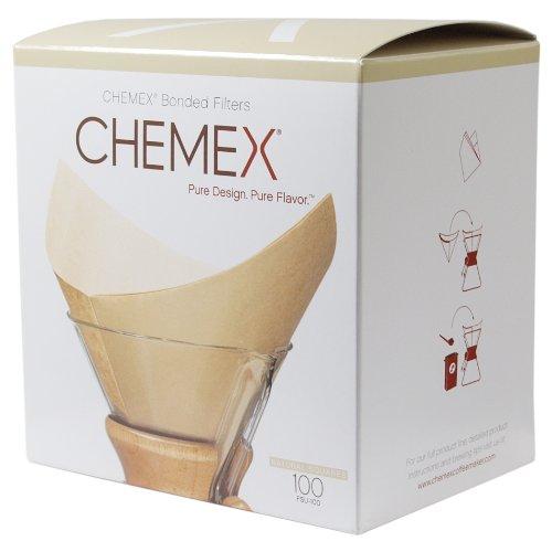 Chemex Bonded Filter - Natural Square - 100ct - Exklusive Verpackung