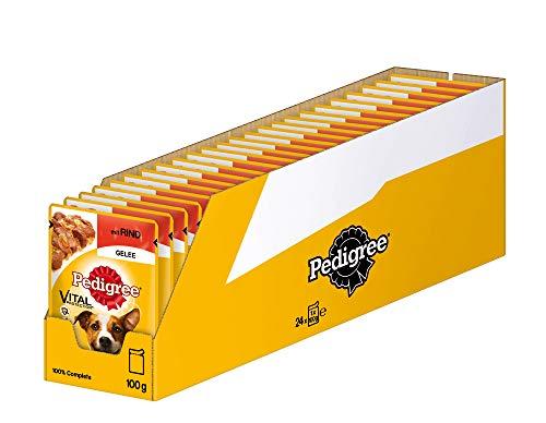 Pedigree Vital Protection Hundenassfutter im Beutel – Hundefutter in Gelee mit Rind – 24 x 100g Großpackung