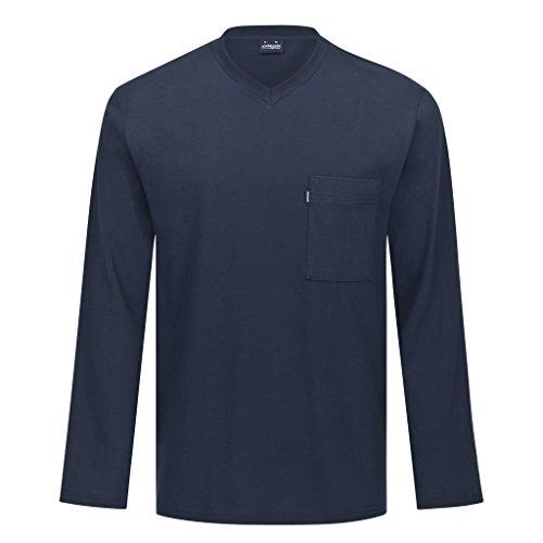 Ammann - Mix & Match - Schlafanzug Shirt Langarm (XL - 54 Shirt Langarm - Dunkelblau)