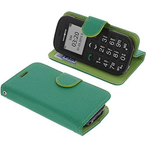 foto-kontor Tasche für Swisstone BBM 320C Book Style grün Schutz Hülle Buch