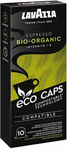 Lavazza Eco Kaffeekapseln Espresso Bio-Organic, Nespresso kompatibel, Kaffee Kapsel, 10 Kapseln