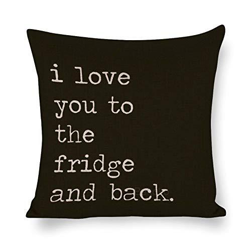 Blafitance Funda de almohada decorativa de lino con frase inspiradora, decoración rústica para el hogar, 40 x 40 cm