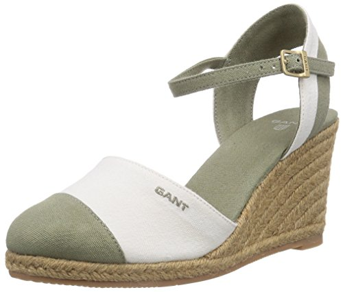 GANT FOOTWEAR Damen Madison Espadrilles, Grün (cream/army green G94), 41 EU