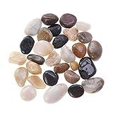 Poppop - Grava decorativa para acuario, piedras pulidas naturales, coloridas para rellenar jarrones, plantas, bonsái, 500 g
