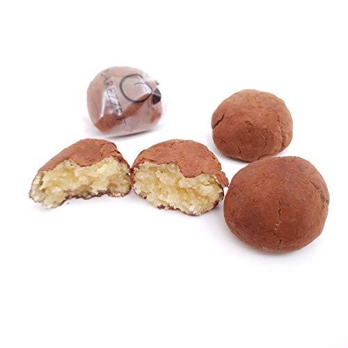 Paste di mandorla siciliane al rum e cacao (box gr.400). RAREZZE: cannoli e cassate da antica pasticceria artigianale .