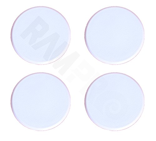 Ram-Pro 4Pc Door Knob Wall Protector Shield Plates Round White Self Adhesive Prevents Holes on Wall