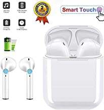 Bluetooth Headset, Touch Wireless Bluetooth Headset ,Wireless earbuds,Stereo Headset, Sports Headset, Mini Charging Headset, Compatible with iPhone/Ipad/Samsung/Android (White)