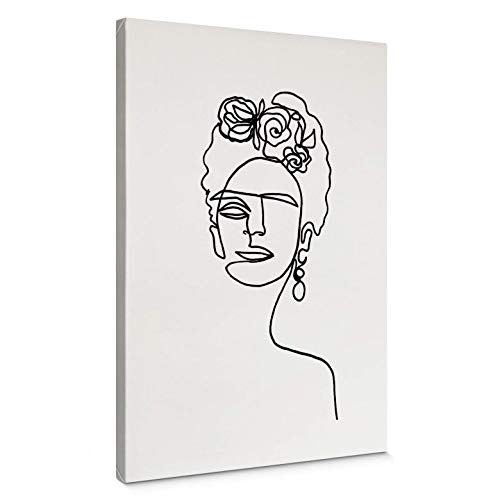 Canvas Schilderij Hariri - Frida Kahlo - 120x180 cm (bxh) Wall Art Wanddecoratie Line Art