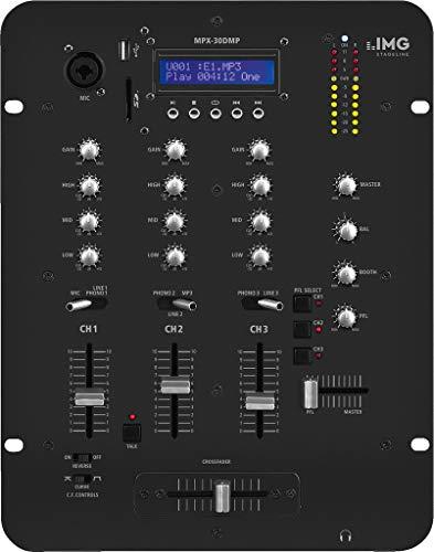 IMG Stageline MPX-30DMP Stereo DJ Mischpult mit integriertem MP3-Spieler schwarz