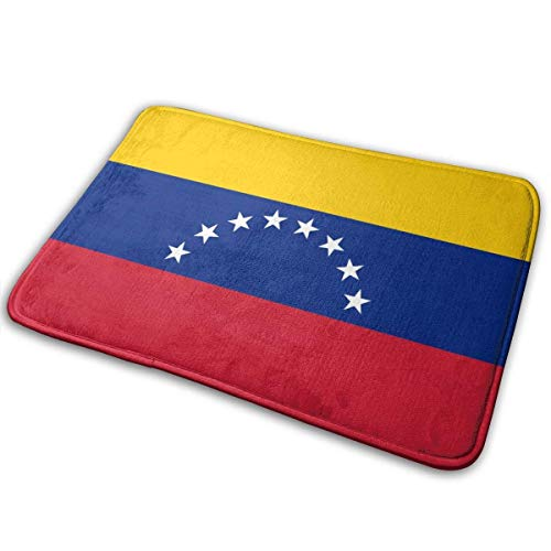 yting Flagge von Venezuela Fußmatte rutschfeste Bodenmatte Indoor Outdoor Eingang Schlafzimmer Türmatte Teppich Home Decor 60x40 cm