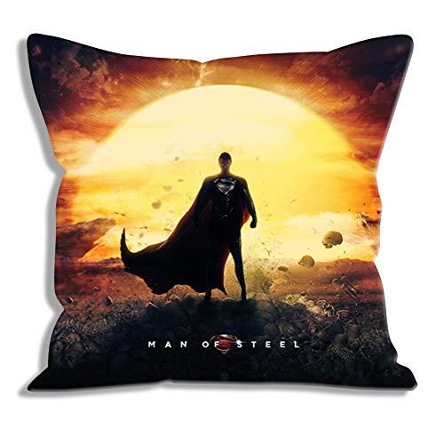 Funda de Almohada Impresa Superman: Man of Steel Clark Kent Fundas de Almohada de Retrato Fundas de Almohada para Regalos Fundas de Almohada con Cremallera Fundas para cojín / Oficina / Dormitorio