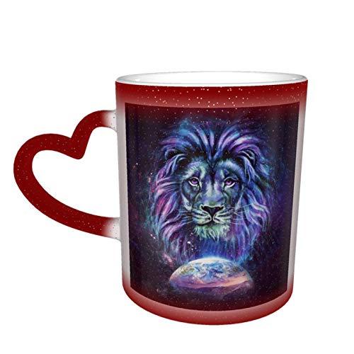 Taza de cerámica sensible al calor que cambia de color, tazas de café de astronauta, taza que cambia de color, taza que cambia de color de cielo estrellado, sorpresa de cumpleaños para niños y niñas