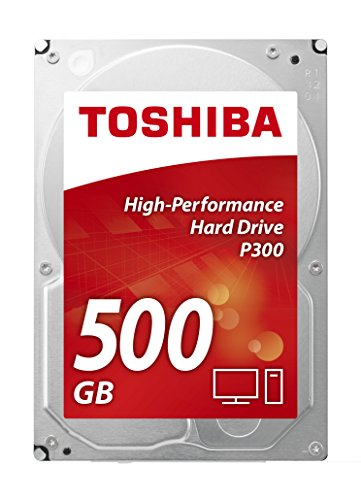 Toshiba P300 500 GB Interne Festplatte (8,9 cm (3,5 Zoll), SATA) schwarz