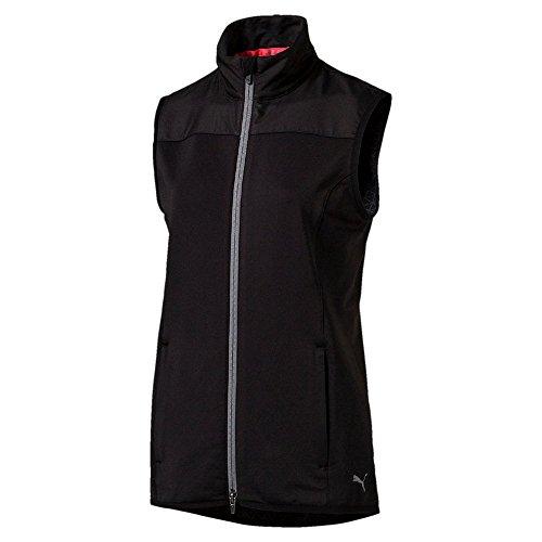 Puma Golf Damen Pwrwarm Knit Weste Frauen Jacke schwarz Größe M