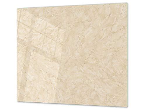 Tagliere da cucina in vetro e Copri-piano cottura a induzione – pezzo UNICO (60x52 cm) o DUE pezzi (30x52 cm ognuno); D10A Serie Textures B: Trama 41