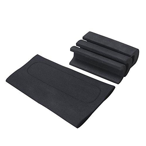 Tourbon Comb Raising Kit Neoprene Shotgun Rifle Cheek Rest Pad Gun Stock Sleeve Cover (Black, Pack of 2 Pieces)